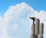 Подныривание бизнесмена от верхней части Мультимедиа Стоковая Фотография RF