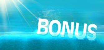 Подныривание бонуса в голубом океане Стоковая Фотография