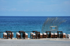 подныривание клуба кафа пляжа Стоковые Фото