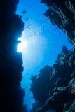 Подныривание пещеры стоковое изображение