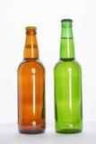 2 полных бутылки с пивом Стоковая Фотография RF
