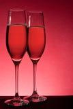 2 полных стекла шампанского Стоковая Фотография RF
