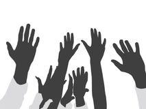 поднятые руки Стоковая Фотография