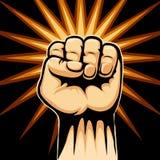 Поднятый символ кулака Стоковое Изображение