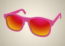 подняли реалистические солнечные очки Стоковая Фотография RF