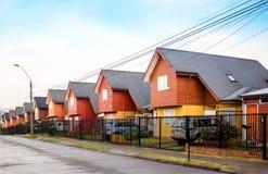 Подобные дома в Чили стоковые изображения