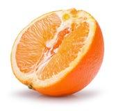 Половина апельсина на белой предпосылке Стоковая Фотография RF