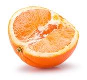 Половина апельсина на белой предпосылке Стоковые Изображения RF
