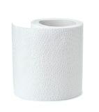 Половина белого крена туалетной бумаги Стоковые Фото