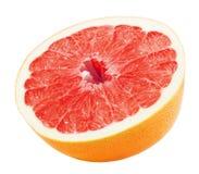 Половина грейпфрута изолированного на белой предпосылке Стоковая Фотография