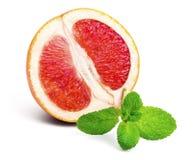 Половина грейпфрута и мяты Стоковые Изображения RF