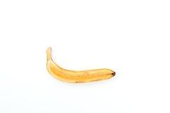 Половина желтого зрелого банана от тропиков на белом backgro Стоковая Фотография