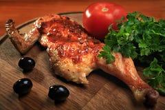 Половина зажженного цыпленка Стоковые Изображения RF
