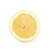 Половина изолированного плодоовощ лимона Стоковые Фото