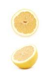 Половина изолированного плодоовощ лимона Стоковое Изображение