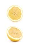 Половина изолированного плодоовощ лимона Стоковые Фотографии RF