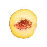 Половина изолированного плодоовощ персика Стоковое Фото