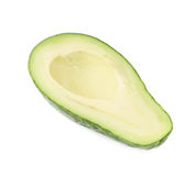 Половина изолированного плодоовощ avacado Стоковое Изображение