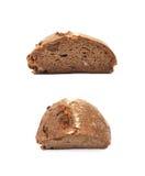 Половина изолированного хлебца хлеба Стоковые Изображения RF