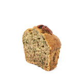 Половина изолированной булочки гайки пекана Стоковое Фото