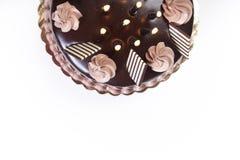 Половина именниного пирога chockolate Стоковые Фото