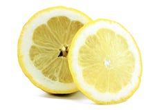 Половина лимона и куска Стоковое фото RF