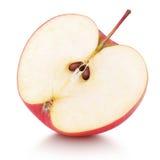 Половина красного плодоовощ яблока Стоковые Изображения