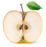 Половина красного плодоовощ яблока Стоковые Фотографии RF
