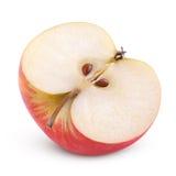 Половина красного яблока Стоковое Изображение