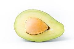 Половина плодоовощ авокадоа на белой предпосылке Стоковые Фото
