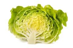 Половина салата изолированная на белой предпосылке Стоковое Фото