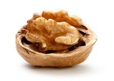 Половина часть грецкого ореха Стоковые Фотографии RF