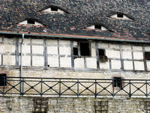 Половина timbered амбар в Германии стоковое изображение