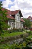 Половина timbered дом-IV-Goettingen-Германия Стоковые Изображения RF