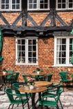 Половина timbered традиционный дом в ribe Дании Стоковая Фотография