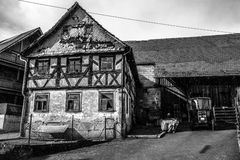 половинная дом timbered Стоковые Изображения