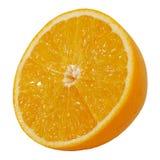 Половинное скольжение апельсина Валенсии или апельсина пупка Стоковое фото RF