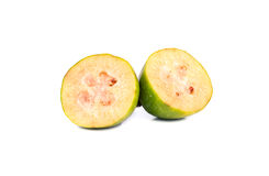 Половинное feijoa плодоовощ Стоковое Фото