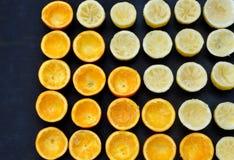 Половинные апельсины и лимоны Стоковое Изображение