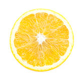 половинные изолированные куски апельсина Стоковая Фотография RF