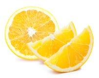 половинные куски апельсина Стоковые Изображения