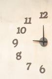 Половинные часы на стене Стоковое Фото