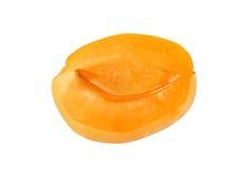 Половинный абрикос без камня изолированного на белой предпосылке Стоковые Изображения
