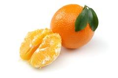 Половинный апельсин и апельсин Стоковое фото RF