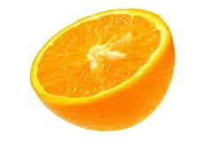 Половинный апельсин на белой предпосылке Стоковое Фото