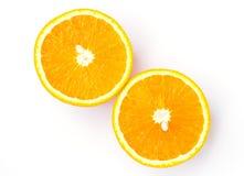 Половинный изолированный апельсин Стоковое фото RF