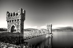 Половинный мост wicklow Стоковые Изображения RF