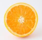 Половинный нетоксический апельсин на белой предпосылке Стоковое Изображение