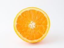 Половинный нетоксический апельсин на белой предпосылке Стоковое Фото