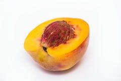 Половинный сочный персик Стоковое фото RF
